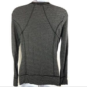 CAbi Tops - CAbi #795 Striped Tech Running Long Sleeve Ruched